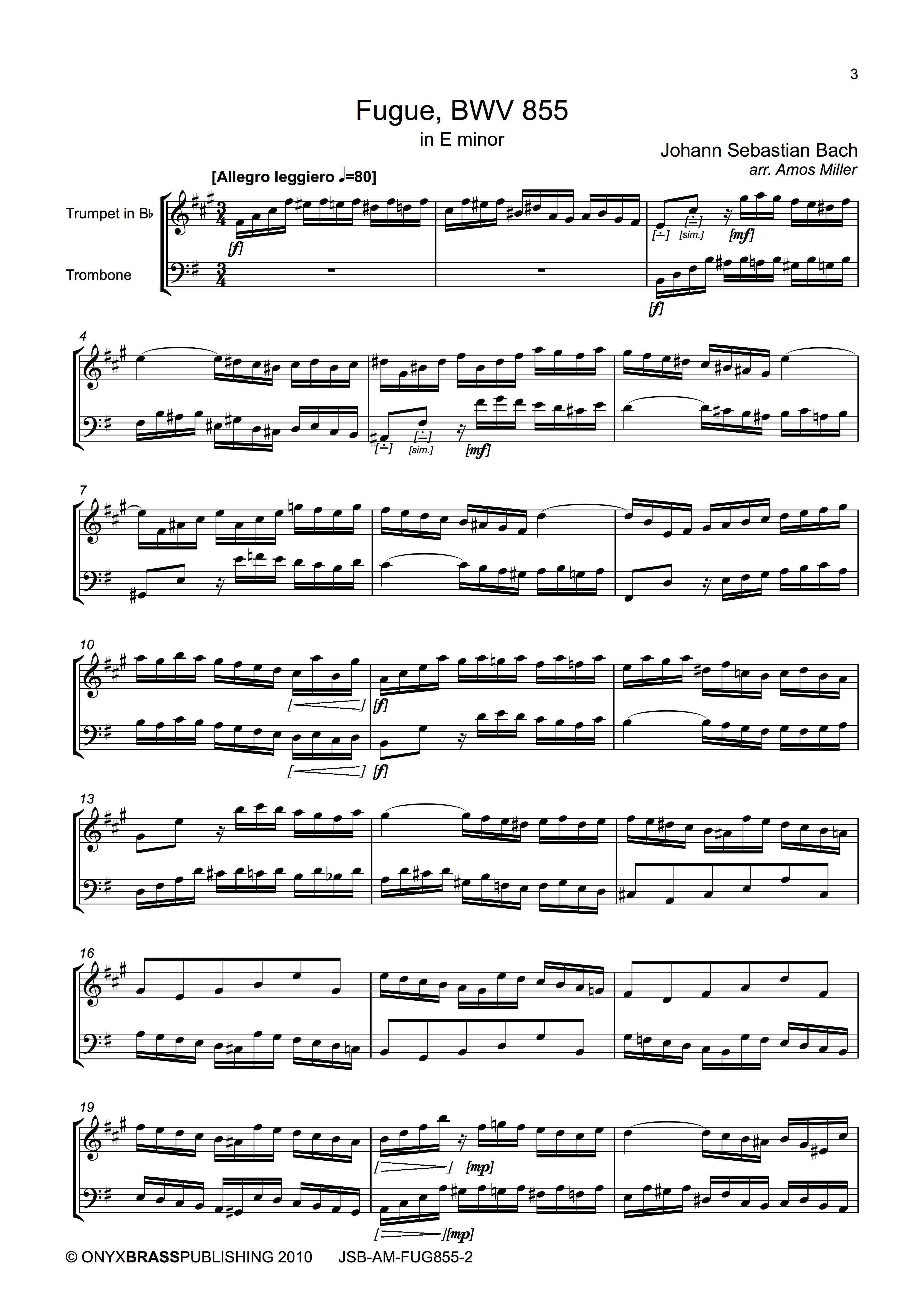 Bach Fuge