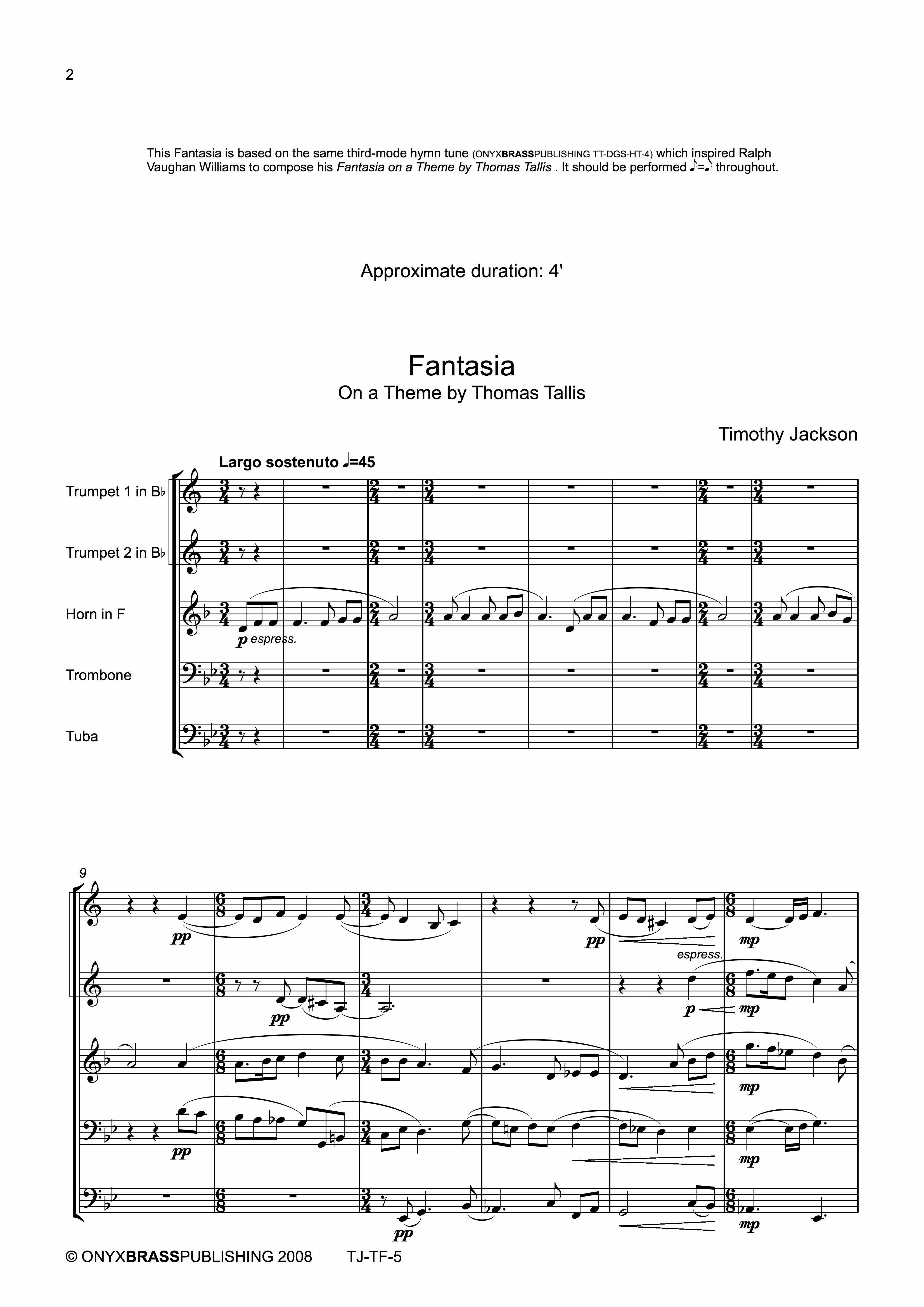 Jackson Tallis Fantasia - example page