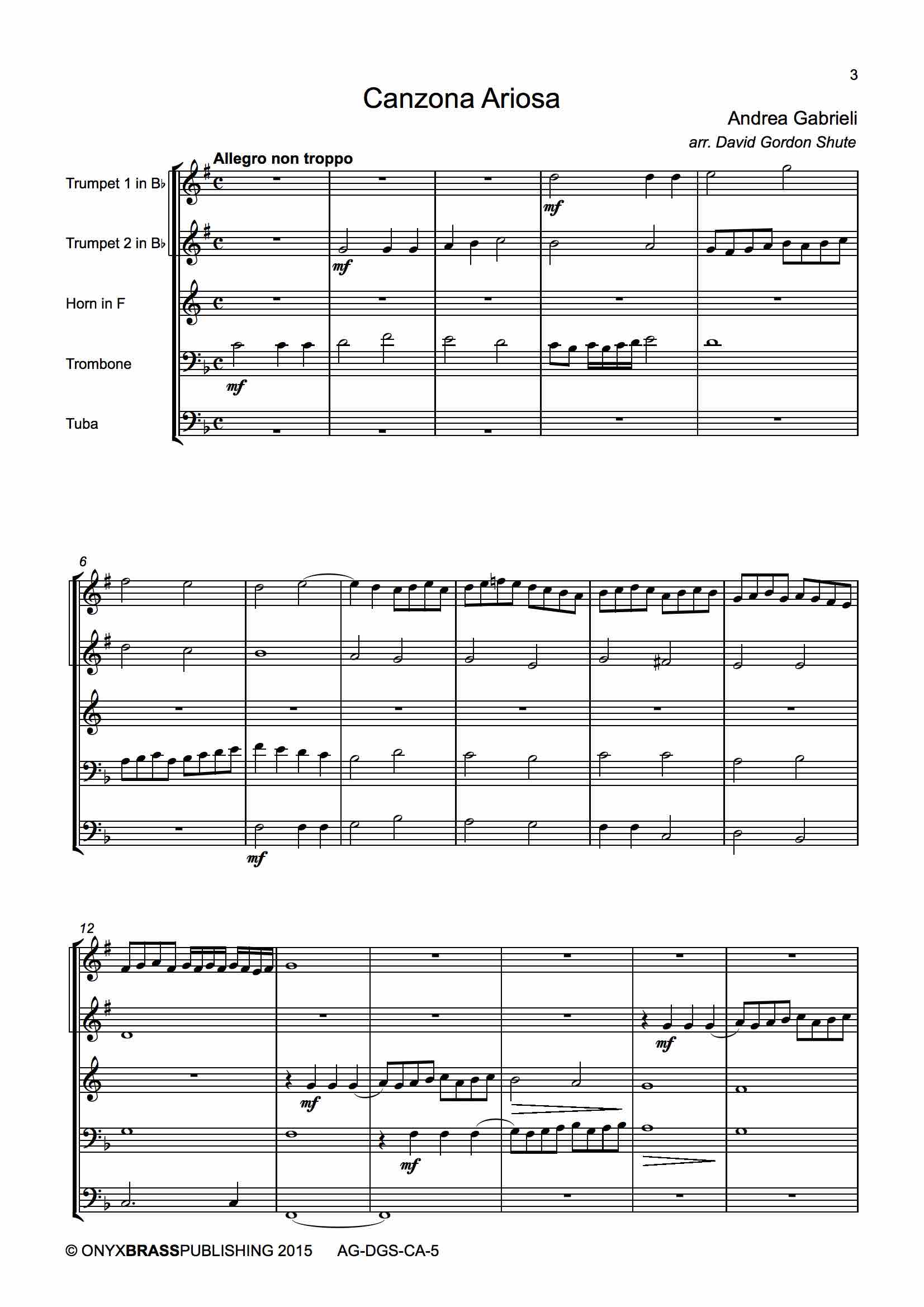 Canzona Ariosa - example page