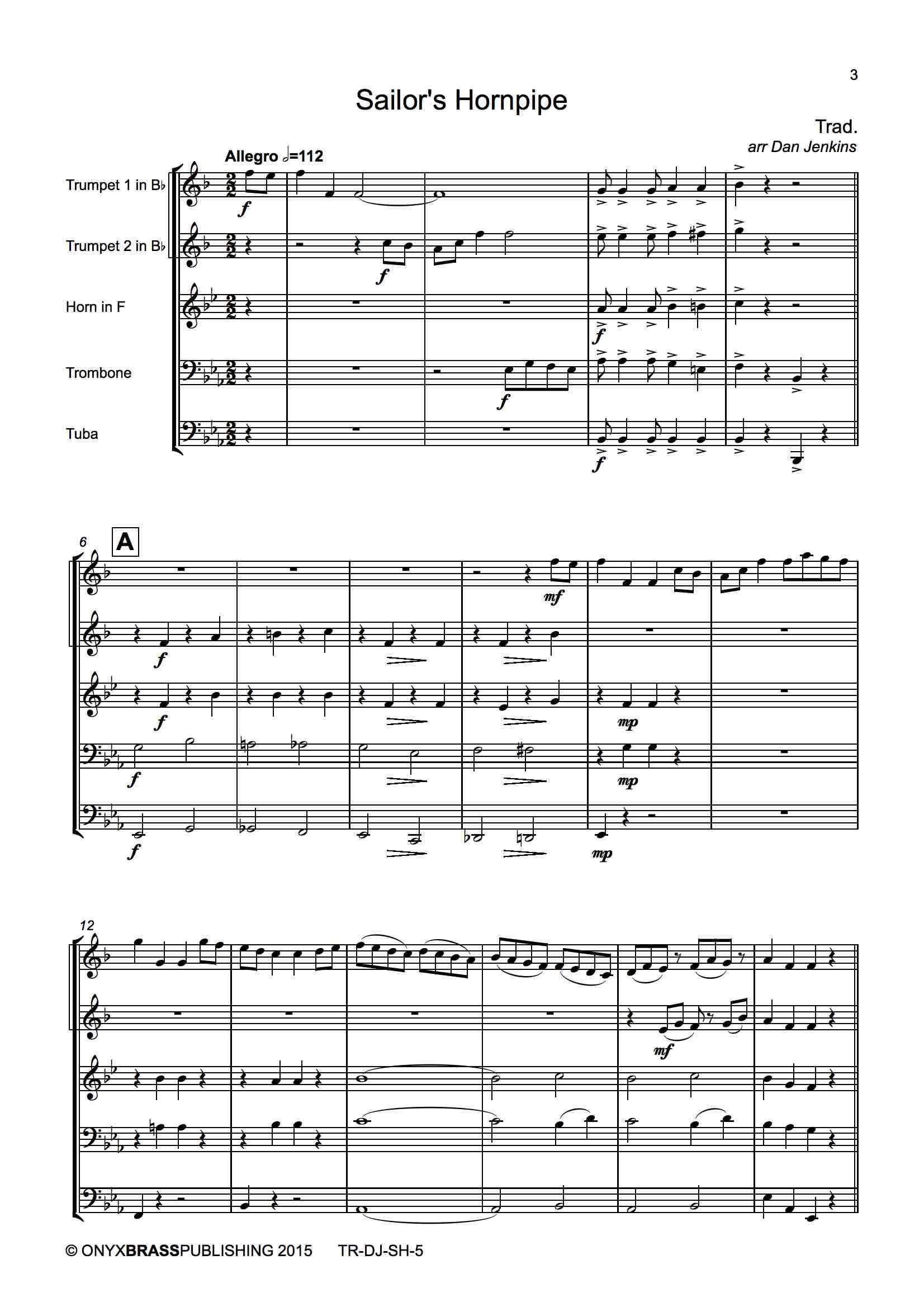 Sailor's Hornpipe - example page