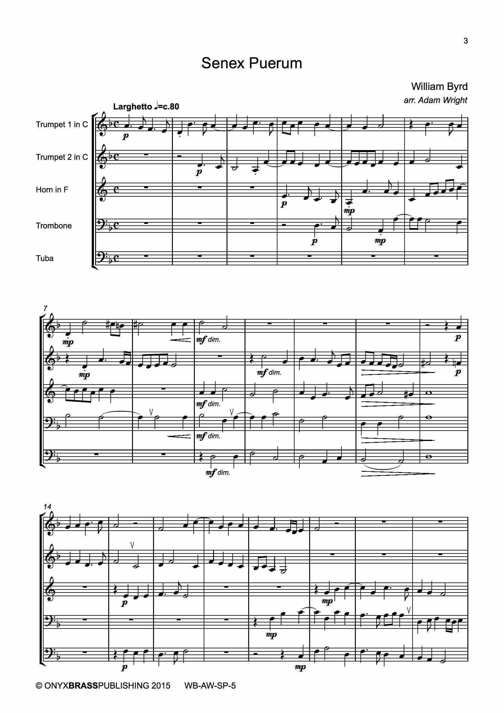 Senex Puerum - example page
