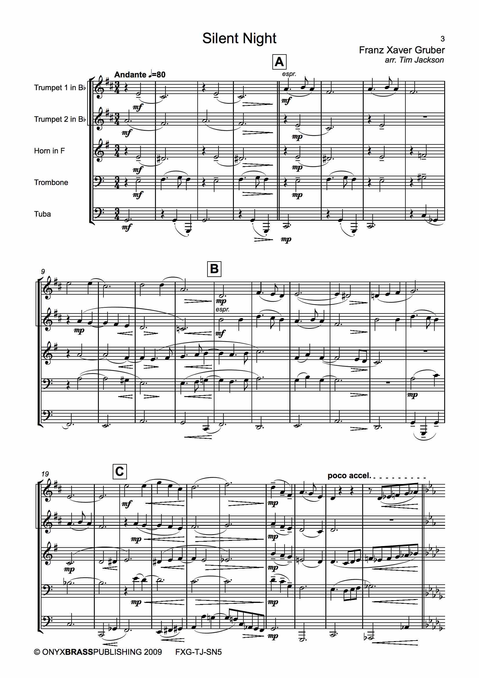 Silent Night - example page